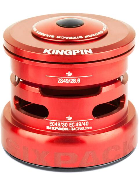 Sixpack Kingpin 2In1 Steuersatz ZS49/28.6 I EC49/30 and ZS49/28.6 I EC49/40 red
